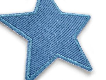 Bild: Cordflicken Stern zum aufbügeln in jeansblau, Flicken für Cordhosen