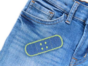 Bild: Jeansflicken Pflaster zum aufbügeln, kleine Hosenflicken für Jeans