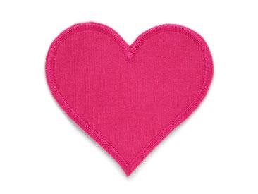 Bild: Cord Flicken Hosenflicken Applikation Herz pink Knieflicken zum aufbügeln für Mädchen