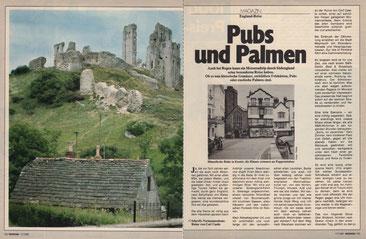 Schroffe Normannenfeste: Ruine von Corf Castle