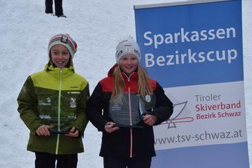 Tagessieger Lauf 2: Luca Lechner RSK Finkenberg und Huber Sarah, WSV Wiesing