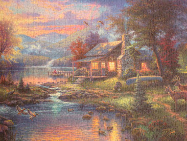 Puzzle Nature's Paradise - Thomas Kinkade