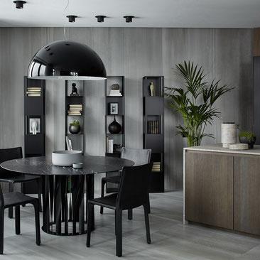 stealth flat  современный интерьер в стиле минимализм
