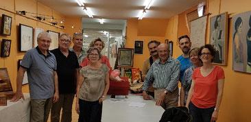 Les artistes de l'exposition durant le FLIP