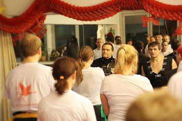 Gruppentraining in der Jing Wu Schule Köln