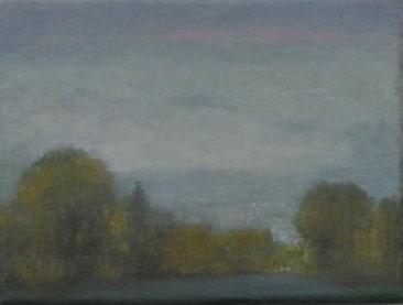 Speckgürtel, Öl/Leinwand, 18 x 24 cm, 2018