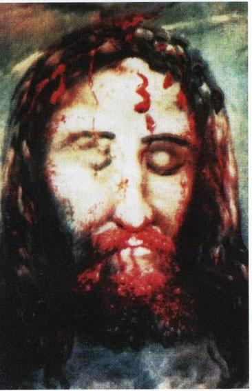 """Mit solchen Bildern macht die Kirche unseren unschuldigen  Kindern ihre """"Schuld"""" an einem Foltermord deutlich. So erzwingt sie lebenslange Demut und lebenslange Schuldgefühle. So bewirkt sie überfüllte  geschlossene Abteilungen auf der Psychiatrie."""