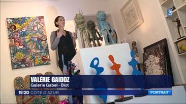 Auréa et Artox, France 3 côte d'azur, Galerie Gabel, presse, TV, galerie d'art cote d'azur