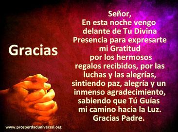 ORACIONES PODEROSAS - ORACIÓN DE GRATITUD - PROSPERIDAD UNIVERSAL - www.´prosperidaduniversal.org