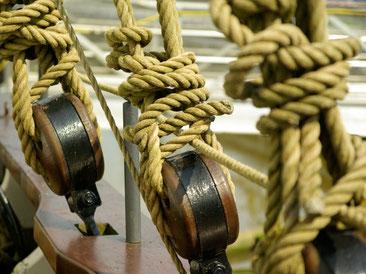 Segelschiff, Tau, Segel