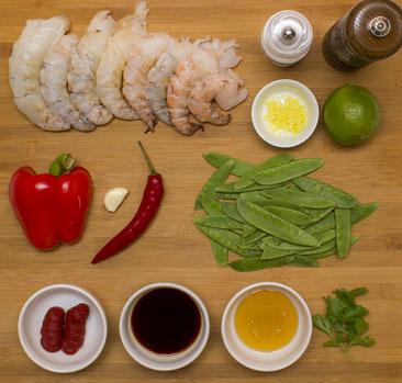 Riesengarnelen an Honigsauce Rezept