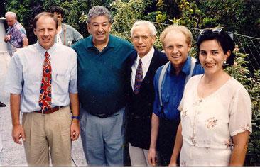 von li. Harti Weirather, Noldi Grabner, Ernst Fischer, Peter Florian, G.Grabner