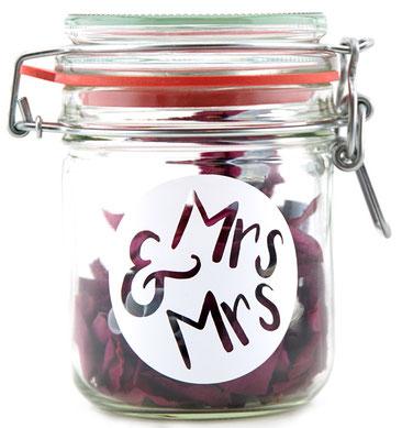 Hochzeitsgeschenk Frauenhochzeit Mrs&Mrs