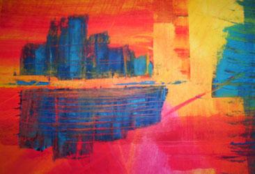 Ohne Titel (2011), Öl auf Papier 31,5x34cm