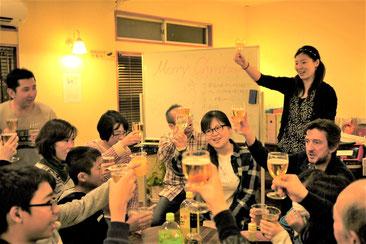 藤沢市辻堂の英会話教室、ディディEnglish Schoolでのクリスマスパーティー