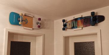 Wandhalterung Wandmontage Longboard diagonal horizontal vertikal Halterung wall mount