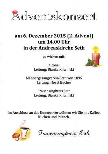 Adventskonzert Frauensingkreis Seth © 2o15