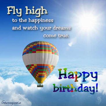 Englische Geburtstagsgrüße und Wünsche gratis
