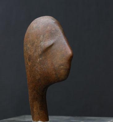 Heidrun Feistner: Der kleine Fremde, Skizze / Stein / Foto HF