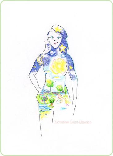 univers. interieur.dessin. dessiner en conscience. lescerclesdelumiere.com. Tours 37000. Séverine Saint-Maurice. conscience. fleur de vie