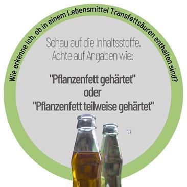 Infobox Lupe alles über Pflanzenfette, Trans-Fettsäuren, Texte