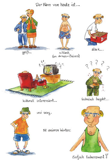 Männer Cartoon