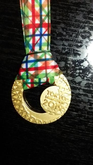 東京マラソン2019 メダル