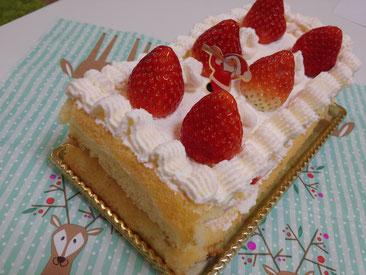 こめこめこの米粉100%ケーキの写真