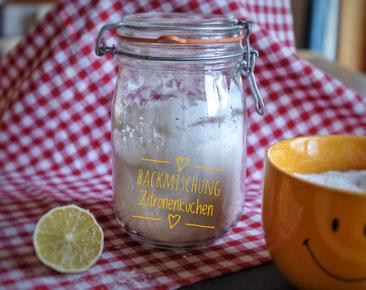 Backmischung Zitronenkuchen selber machen - auch für Thermomix