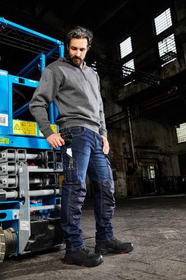 Denim Jean Workwear Cargo Hose, in 3 Längen, , 2% Elasthan, Bio-Baumwolle, Steiermark, Stickerei Graz Umgebung,  Berufsbekleidung, Berufskleidung, Arbeitsbekleidung, Arbeitskleidung, Berufsmode