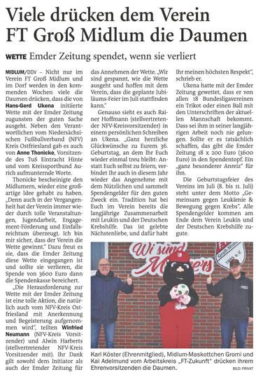 Pressebericht der Emder Zeitung vom 13.02.2021