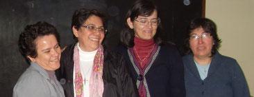 Srs Irma de Leon,  Ercilia Vera Provinciale, Julia Elisabeth Coronel, Angela Urbieta