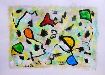 Composition-9 No.5 画用紙 / アクリル