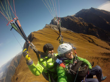 Aufdrehen über Alp Riein