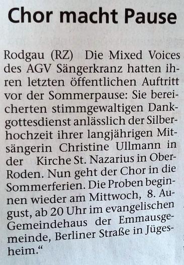 aus der Rodgauzeitung vom 12.07.2018