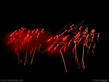 Zarahzetas Kunstwelt mit Feuerwerk