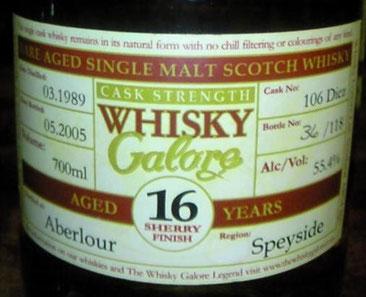 Duncan Taylor Whisky Galore 1989, 16yo, cask 106