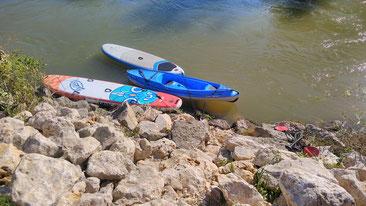 SUP und Kajak Verleih ab Danubio