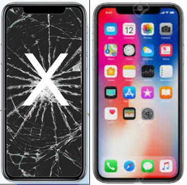 Centro Riparazione iPhone Firenze Sostituzion vetro Schermo rotto  iPhone X , (fuori garanzia) Con ricambio ORIGINALE,Genius Premium,Garantito con 90 giorni di garanzia.