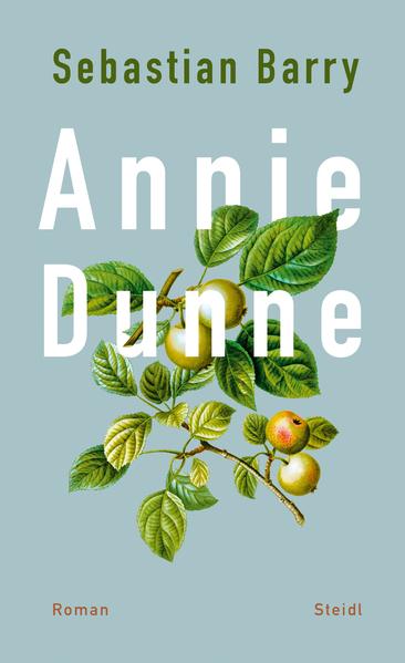 Das Bild zeigt das Cover von Annie Dunne von Sebastian Barry mit der Zeichnung eines Apfelzweiges.