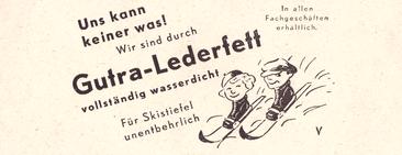 Werbung aus dem Sportprogramm 1939/40