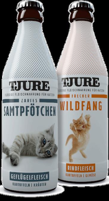 Flüssige Fleischnahrung für Katzen