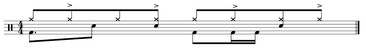 Schlagzeug Noten Beispiel Groove