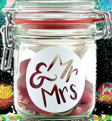 Geldgeschenk Gutscheinverpackung Mr & Mrs Hochzeit