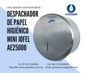 JOFEL DISPENSADORES DE PAPEL HIGIENICO DE ACERO INOXIDABLE