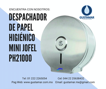 PH21000 DISPENSADORES DE PAPEL HIGIENICO DE ACERO INOXIDABLE