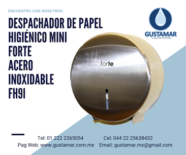 DISPENSADORES DE PAPEL HIGIENICO DE ACERO INOXIDABLE FORTE