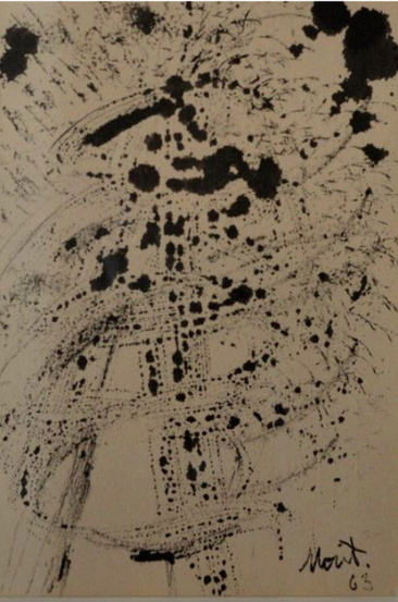 Vicente de Rego Monteiro Encre brune/papier, signée  14,5 x 8,5 cm galerie agnes thiebault paris