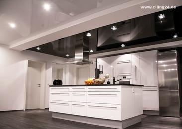 Bild Küche schwarze und weiße CILING Lackspanndecke