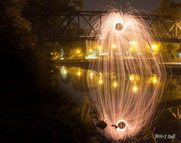 Feuerwerk von der Luise-Henriette-Brücke, gezündet von Herrn Musold